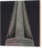 Liberty Memorial At Night Wood Print