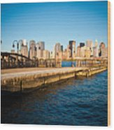 Liberty State Park Pier Wood Print