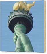 Liberty Torch Wood Print