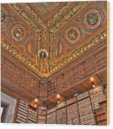 Library Details Wood Print