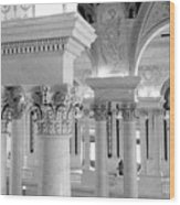 Library Of Congress 2 Black And White Wood Print