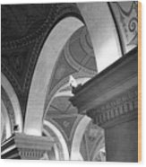 Library Of Congress 3 Black And White Wood Print