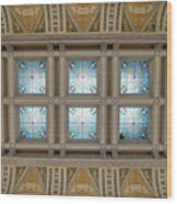 Library Of Congress Ceiling  Wood Print