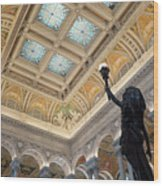 Library Of Congress Great Hall IIi Wood Print