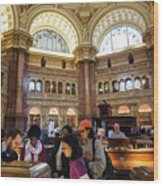 Library Of Congress, Main Reading Room, Jefferson Building - 2 Wood Print