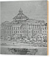 Library Of Congress Proposal 3 Wood Print