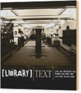Library Wood Print