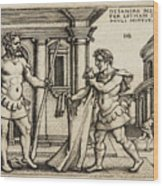Lichas Bringing The Garment Of Nessus To Hercules Wood Print