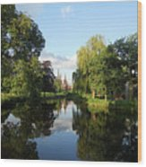 Lichfield Cathedral Reflectons Wood Print