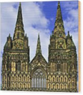 Lichfield Cathedral - The West Front Wood Print