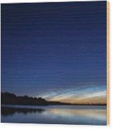 Lichtende Nachtwolken , Noctilucent Clouds Wood Print
