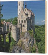 Lichtenstein Castle Wood Print by Yair Karelic