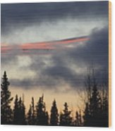 Licorice In The Sky Wood Print