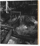 Liesijoki In Bw Wood Print