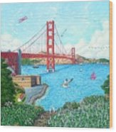Life At The Golden Gate Wood Print