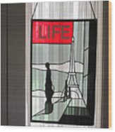 Life Cover By Ed Clark Wood Print