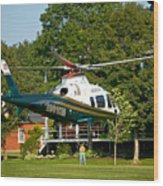 Life Flight Training Wood Print
