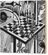 Life Game Wood Print