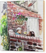 Life In Robin Hoods Bay Wood Print