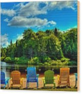 Life In The Adirondack Mountains Wood Print