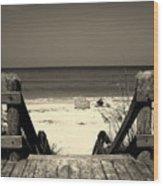 Life Is A Beach Wood Print by Susanne Van Hulst
