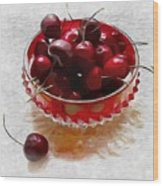 Life Is A Bowl Of Cherries Wood Print