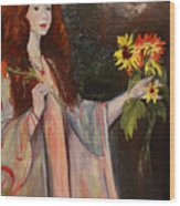Life Is Fragile Handle With Flowers Wood Print