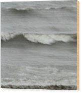 Life Is Like A Wave Wood Print