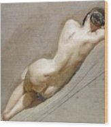 Life Study Of The Female Figure Wood Print by William Edward Frost