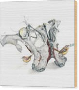 Life With Carolina Wrens Wood Print