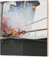 Lifeboat Chocks Away  Wood Print by Terri Waters