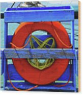 Lifebuoy Wood Print