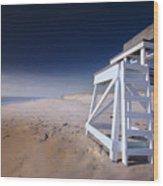 Lifeguard Chair - Nauset Beach Wood Print by Dapixara Art