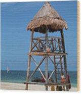 Lifeguard Chair - Riviera Maya Mexico Wood Print