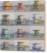 Lifeguard Houses Wood Print