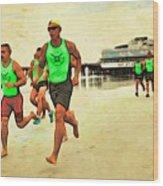 Lifeguard Runners Wood Print