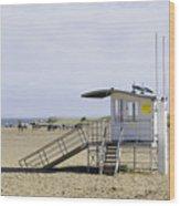 Lifeguard Station At Skegness Wood Print