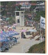 Lifeguard Tower Laguna Wood Print