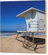 Lifeguard Tower Photo Wood Print