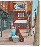 Liffey Street, Dublin Wood Print