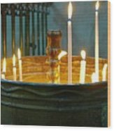 Light A Candle Wood Print