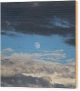Light And Dark Moon  Wood Print