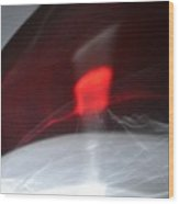 ''light And Red Disc No.20'', Sun--27sep2015 Wood Print