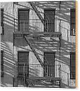 Light And Shadow On First Avenue Wood Print