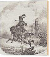 Light Artillery Officer Of The  Imperial Guard (officier D'artillerie Legerie De La  Garde Imperiale) Wood Print