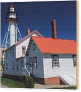 Light At Whitefish Point Wood Print