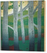 Light Between The Trees Wood Print by Jarle Rosseland