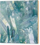 Light Blue Crystals Wood Print