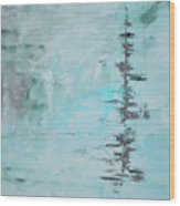 Light Blue Gray Abstract Wood Print