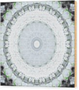 Light Blue Mandala- Art By Linda Woods Wood Print